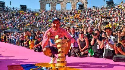 """VIDEO. Giro-winnaar Carapaz maakt """"ereronde"""" in het prachtige amfitheater van Verona"""