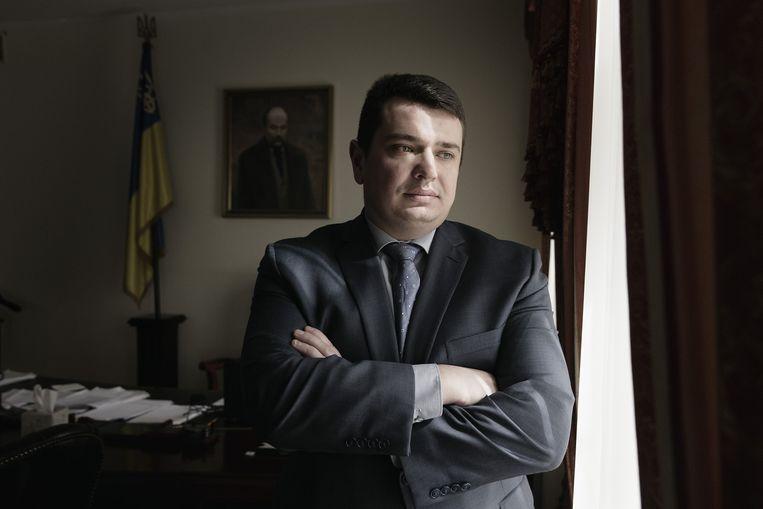 Artjom Sytnyk, chef van het nieuwe anticorruptiebureau Beeld Daniel Rosenthal