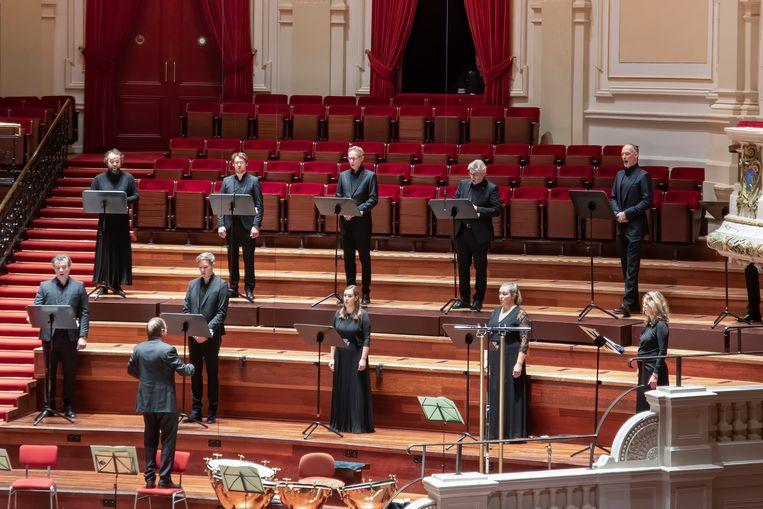 Cappella Amsterdam zingt Josquins Nymphes des bois, dat aan May voorafging. Beeld Esther de Bruijn