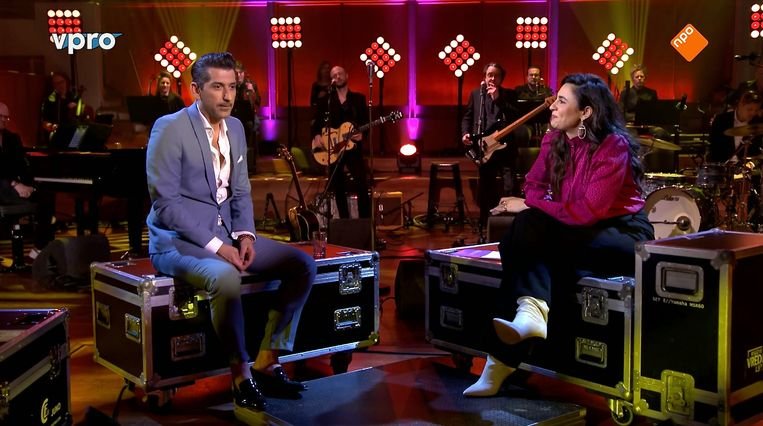 Danny Vera en Nadia Moussaid bij OnStage. Beeld VPRO