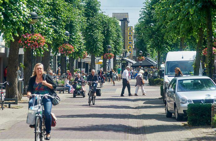 Sfeerfoto Marktstraat Uden.