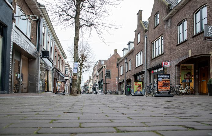 De Hoogstraat in Wageningen.