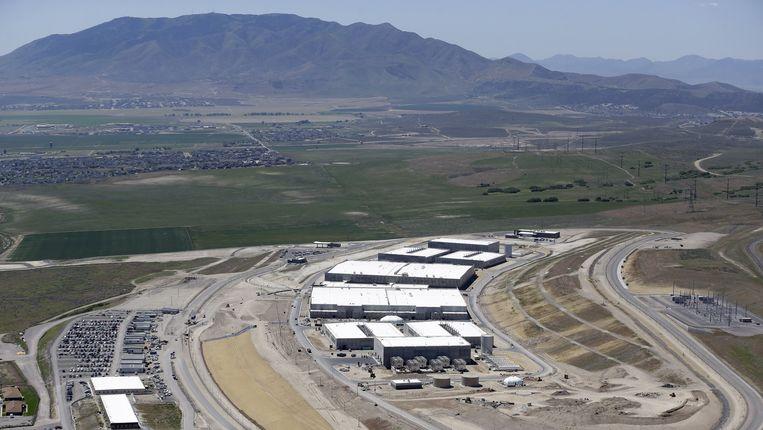 Het nieuwe datacenter van de NSA in Bluffdale, Utah. Beeld ap