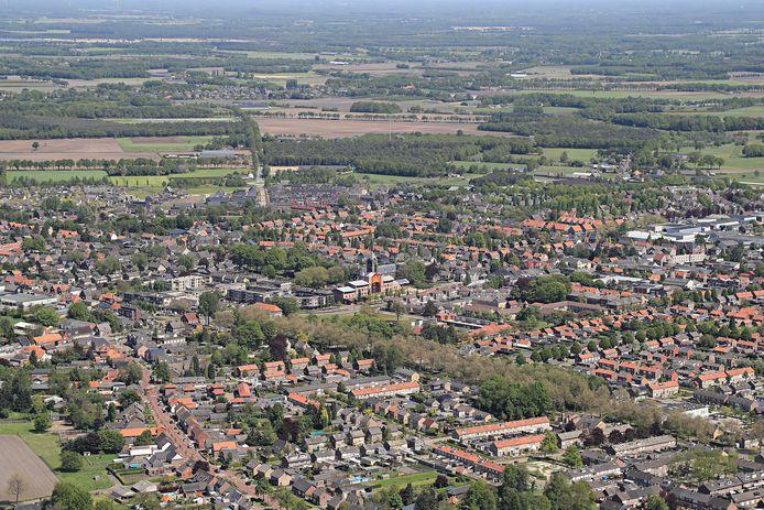 Het centrum van Reusel.