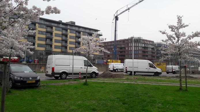 Parkeren in de berm rondom Leidsche Rijn Centrum is verboden en wordt nu beboet.