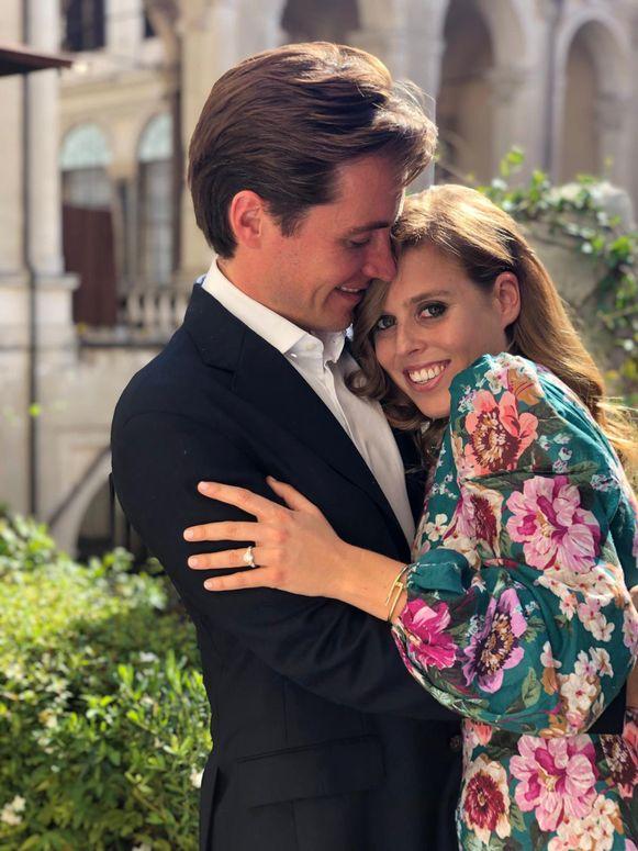 Prinses Beatrice met haar verloofde Edoardo Mapelli Mozzi