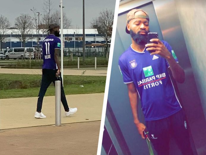 Lamkel Zé arriveerde in een Anderlecht-shirt op het trainingscomplex van Antwerp en pronkte er ook mee op z'n Instagram.