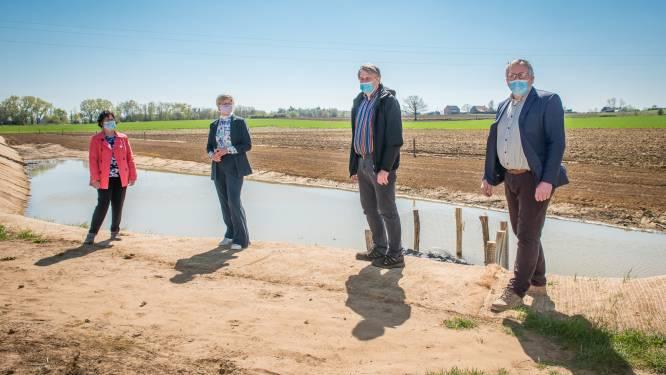 Provincie en stad bestrijden erosie met aarden dam in Scherpenheuvel-Zichem