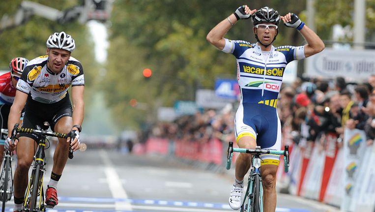 Marco Mercato won vorig jaar in Tours. Beeld afp