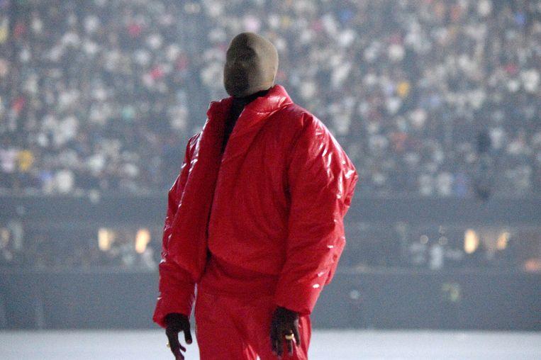 Kanye West bij de presentatie van Donda. Beeld Getty