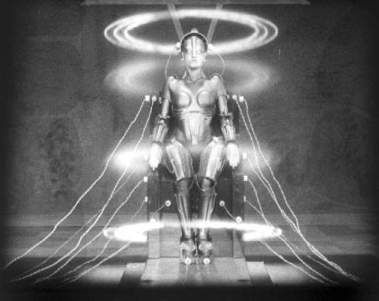 Scène uit 'Metropolis' van Fritz Lang. Beeld