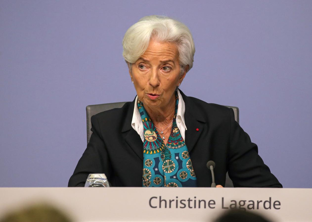 Christine Lagarde, de nieuwe ECB-preses.