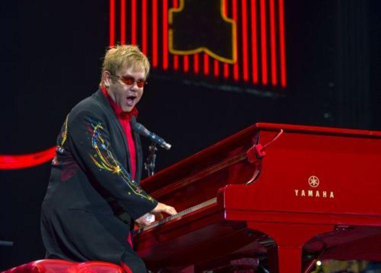De Britse poplegende Sir Elton John geeft in Rotterdam een concert, het laatste in de Las Vegas reeks The Red Piano. Elton John trad voor het laatst in Nederland op in 2003. ANP Beeld