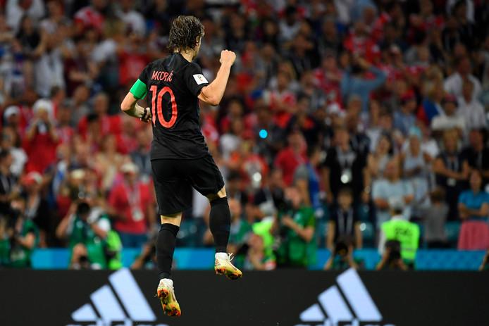 Modric kwam goed weg met zijn matig genomen strafschop...