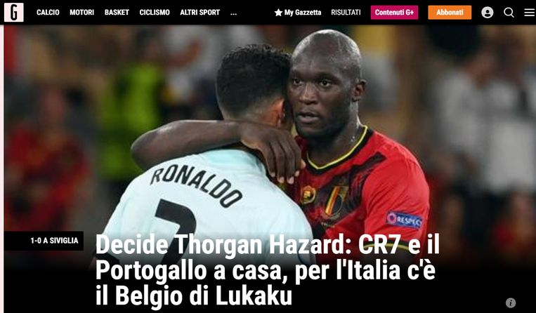 La Gazzetta dello Sport. Beeld La Gazzetta dello Sport.