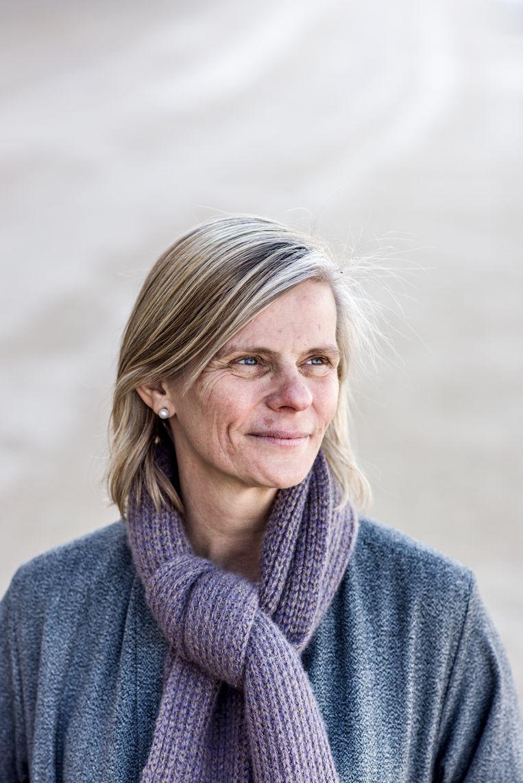 """VUB-rector Caroline Pauwels: """"Er is nu de afspraak onder rectoren om met de inlichtingendiensten het gesprek aan te gaan en te horen hoe zij tegenover bepaalde landen staan."""" Beeld Tine Schoemaker"""