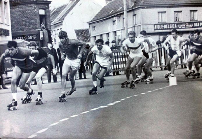 WK rolschaatsen in 1965 in Wetteren.