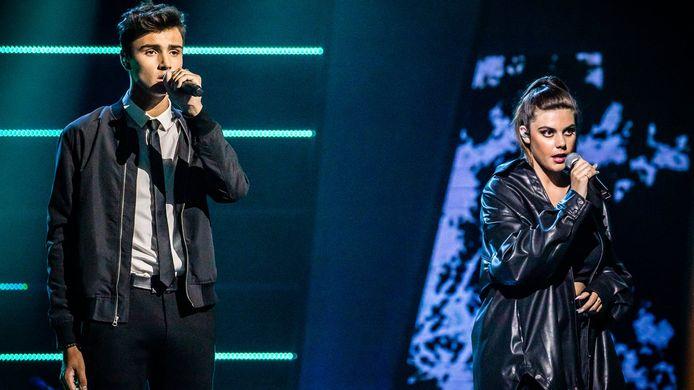 Tobe en Alessia in 'The Voice van Vlaanderen'