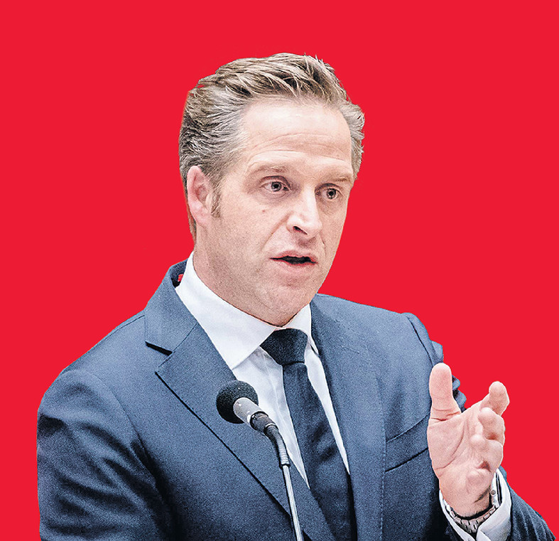 Demissionair Minister Hugo de Jonge van Volksgezondheid, Welzijn en Sport (CDA) in de Tweede Kamer.