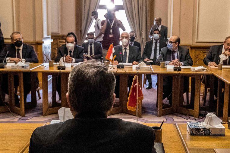 De onderhandelingen tussen Turkije en Egypte die deze week begonnen moeten de diplomatieke relatie weer normaliseren.  Beeld AFP
