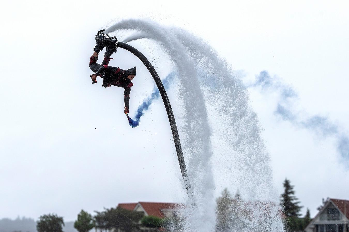 Wateracrobatiek bij Dreamfields.