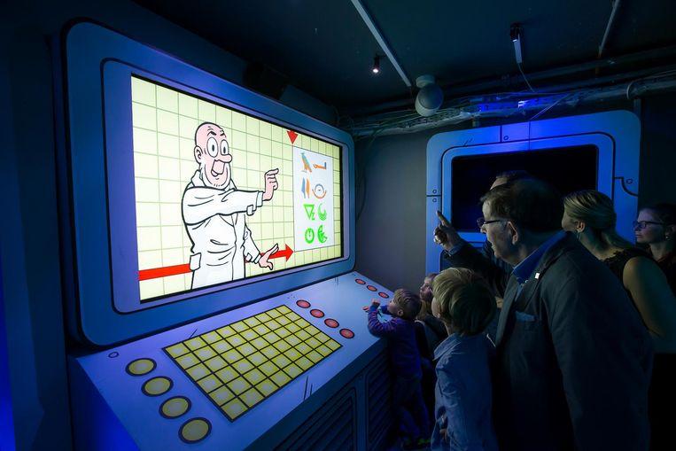 Er is ook een interactief spel rond professor Barabas.