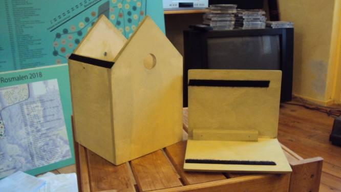 Gratis nestkastjes in Den Bosch zijn nog knap lastig op te hangen: 'Ze zijn van inferieure kwaliteit'