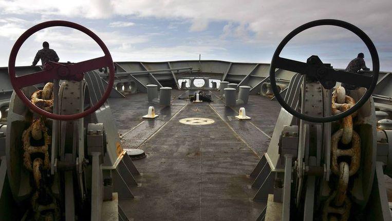 Het Australische schip HMAS. Beeld reuters