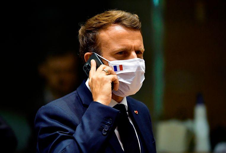 De Franse president Macron. Beeld AP