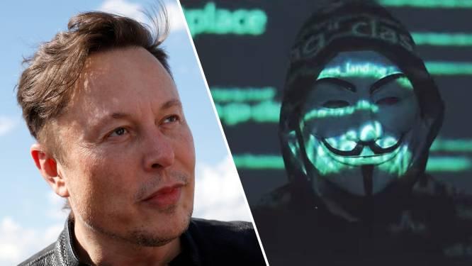 """Hackers van Anonymous hebben genoeg van Elon Musk: """"We komen achter je aan"""""""
