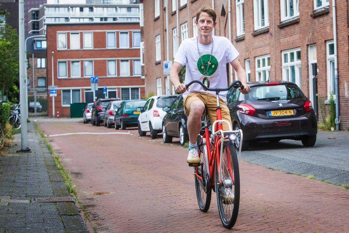 Haagse fietsburgemeester Marcel Kleizen.