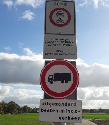 Bewoners tellen zelf voorbijrazend verkeer op Heesweg in Raalte