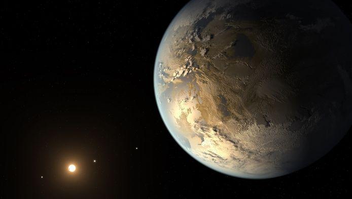 Archiefbeeld. Ook vorig jaar werd een nieuwe exoplaneet ontdekt, Kepler-186f, waarvan hier een artistieke impressie te zien is.