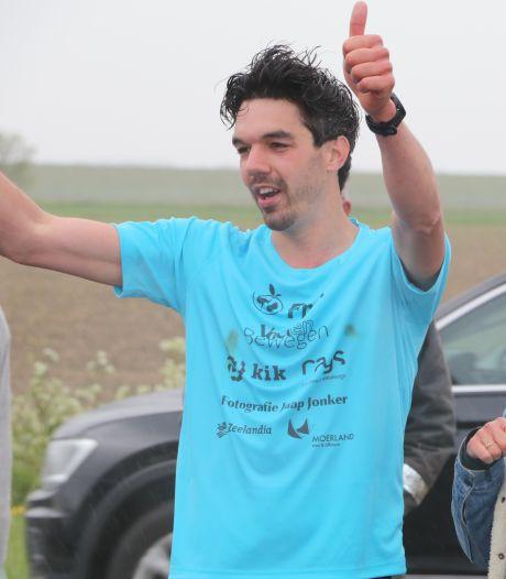 Geslaagde missie voor hardlopende volleyballer Lennen Jonker