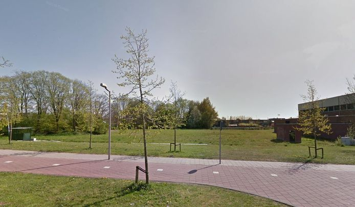 De nieuwe locatie van het Coenecoop College op de hoek van de Oude Dreef en de Kanaaldijk in Waddinxveen.