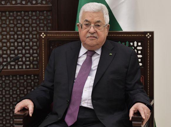 Palestijns president Mahmoud Abbas