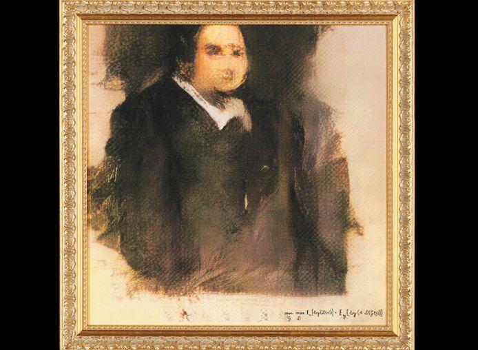 Het eerste AI-schilderij wordt in oktober geveild bij Christie's.