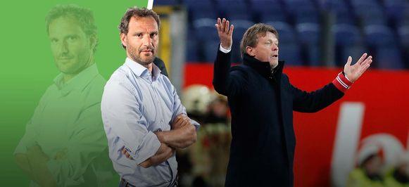 Links onze chef voetbal, rechts Frank Vercauteren.