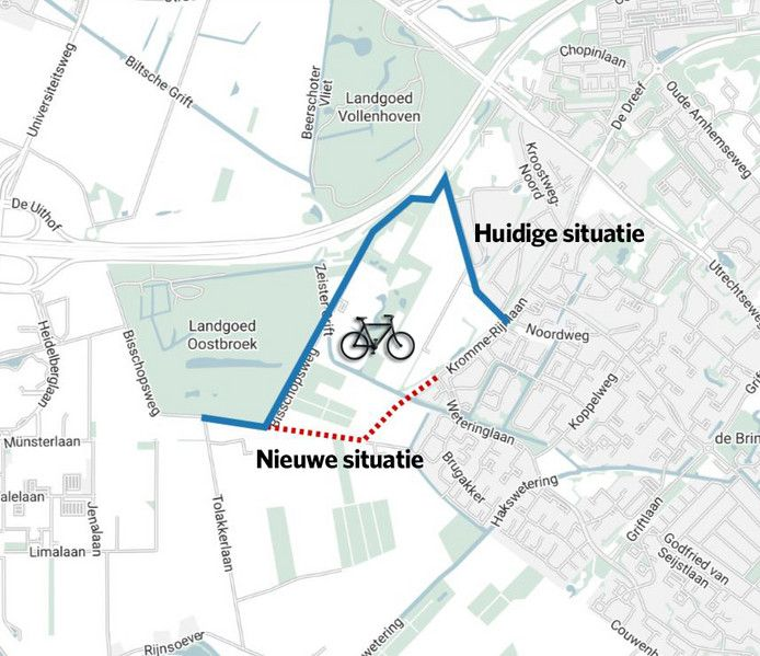 De gevreesde fietsroute leek van de baan, maar staat nu toch weer op de agenda van de provincie.
