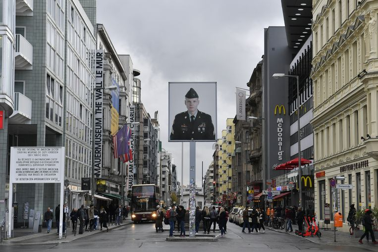 Checkpoint Charlie. Beeld AFP