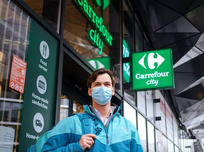 Zelf uw boodschappen doen? Dat is passé: Carrefour en Deliveroo slaan de handen in elkaar