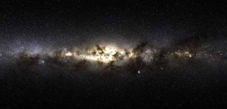 Simulatie van sterrenstelsels die worden gevormd, toen het heelal slechts enkele miljoenen jaren oud was. Beeld Hopkins Research Group, Caltech
