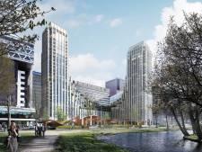 Twee hoge woontorens pal voor Den Haag Centraal