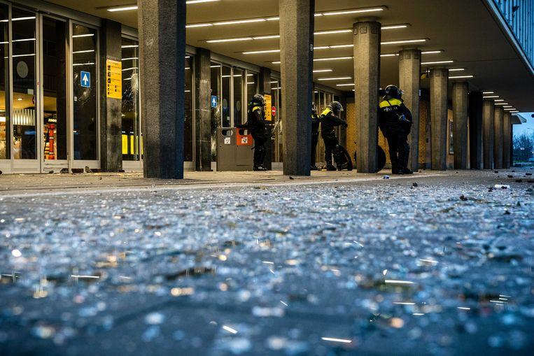 Grote schade aan station Eindhoven Centraal. Beeld ANP