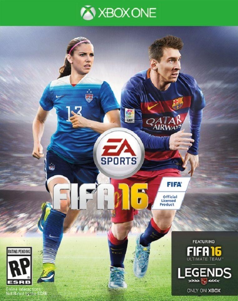 Alex Morgan en Lionel Messi Beeld kos