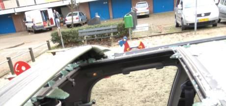Stenengooiende kauwen in Soest te lijf met pinnen