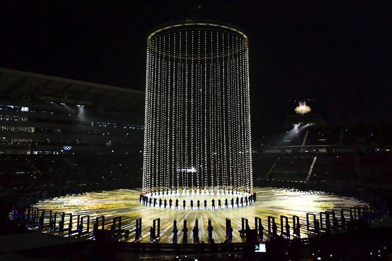 De openingsceremonie in Pyeongchang (Zuid-Korea). Beeld BELGA