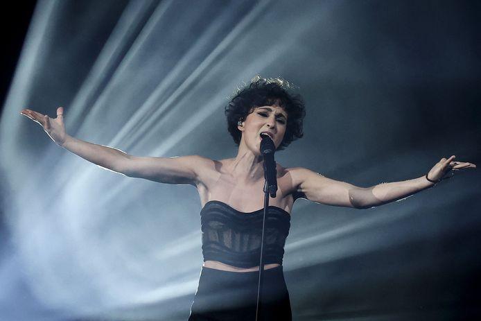 Barbara Pravi lors de la finale de l'Eurovision