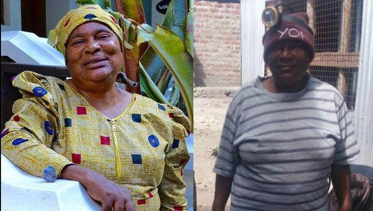 Tweemaal Pili Hussein: als vrouw (links) en als mijnwerker.