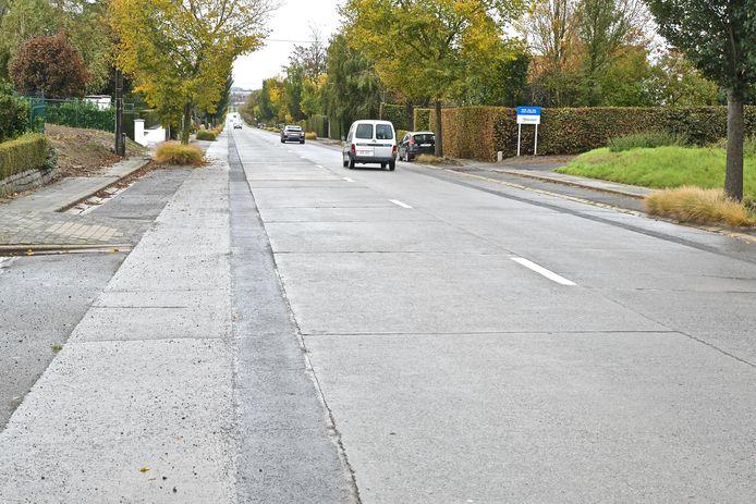 Het huidige fietspad in de Egemsesteenweg.